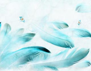 Фотообои Принт с перьями 22251